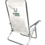Brinde Cadeira de praia em alumínio 5 posições