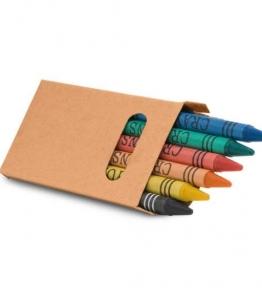 caixa de lápis de giz de cera 06 peças