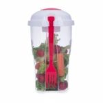 Brinde Copo para Salada com Garfo 800 ml