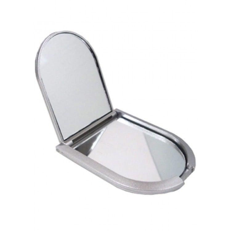 Espelho duplo plástico em formato escudo