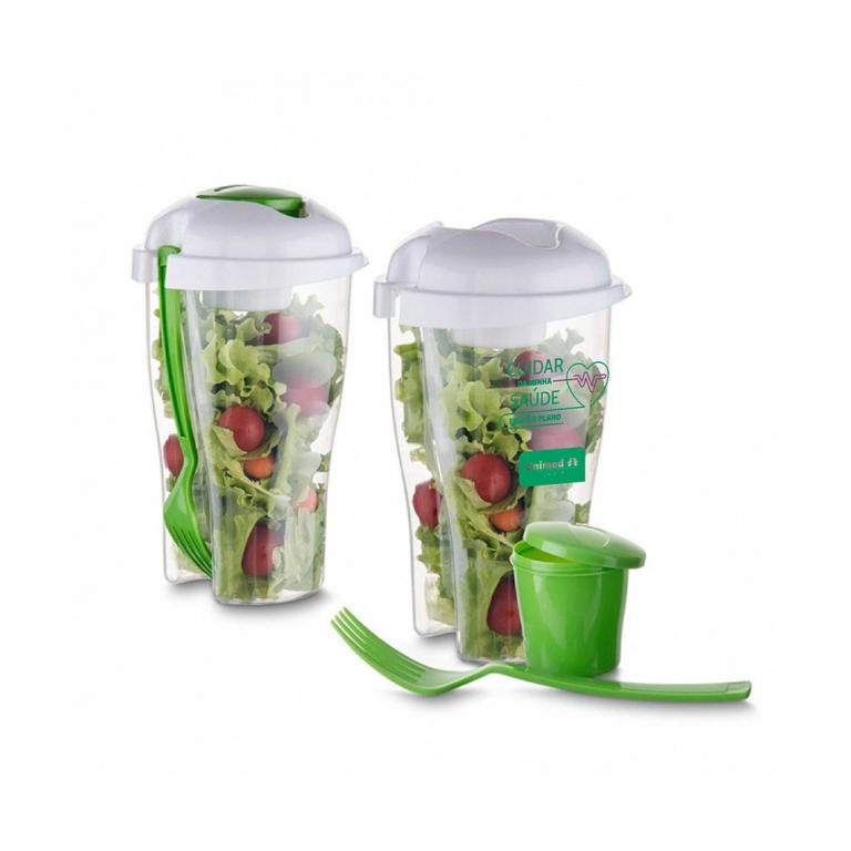 brinde personalizado Copo para Salada com Garfo 800 ml-2