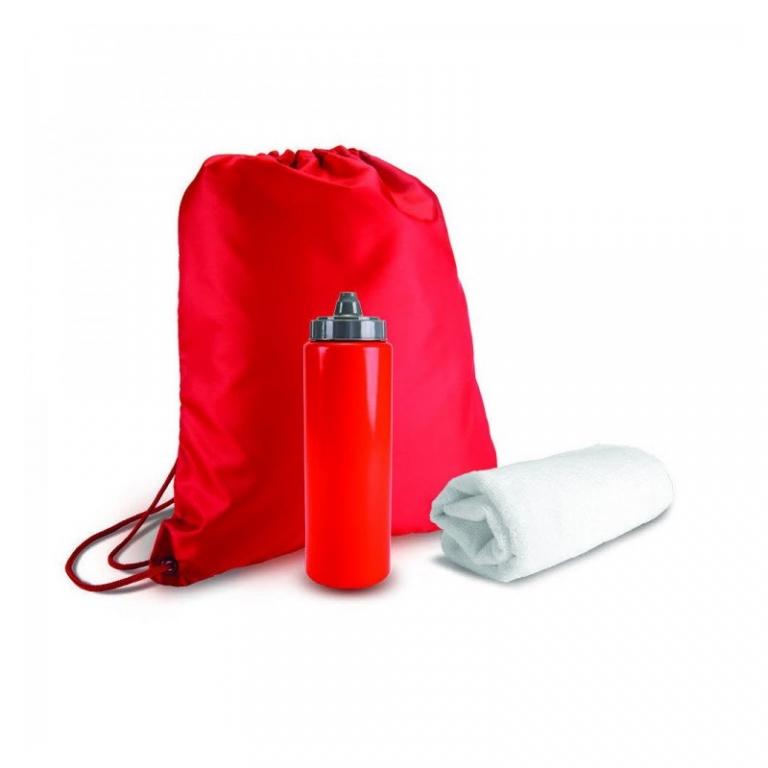 brindes Kit Academia com Squeeze 750 ml Mochila e Toalha-2