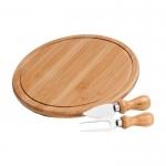 Brinde Kit Queijo 3 Peças com Tábua em Bambu e Acessórios em Inox
