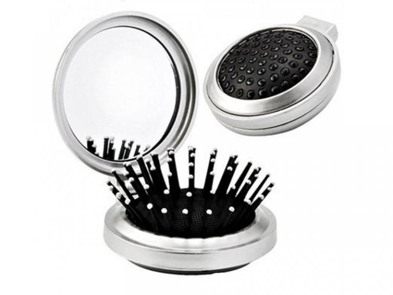 brinde Kit Mulher com Necessaire, Espelho Escova e Lixa de Unha-1