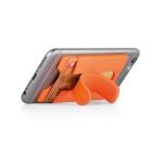 Brinde Porta Cartão para Celular em Silicone com Suporte