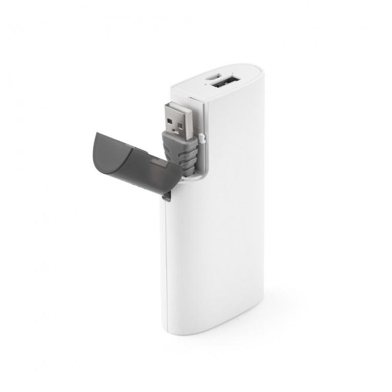 brinde Carregador Portatil de Celular com Compartimento Para Cabo personalizado-5
