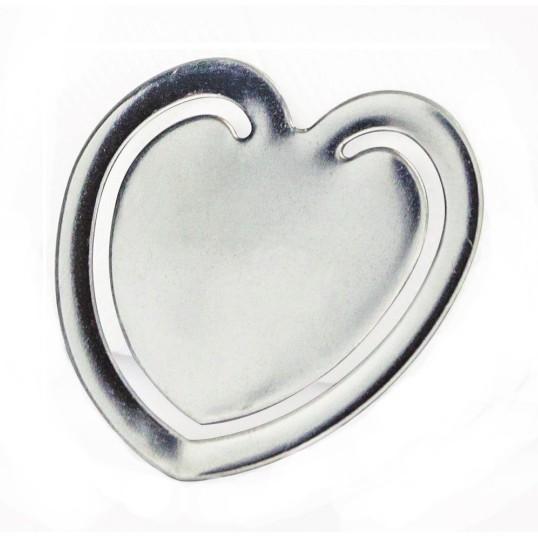 Brinde Marcador de Páginas em Inox Formato Coração