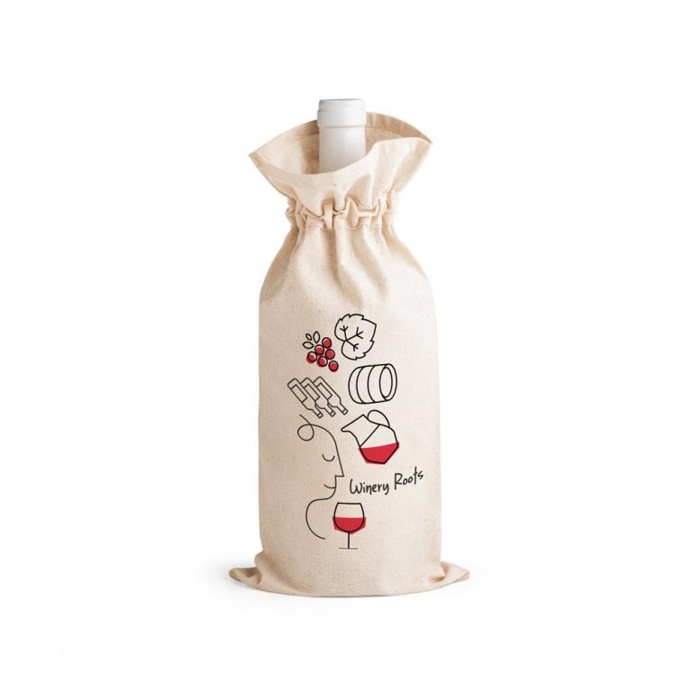Brinde Sacola para Garrafa de Vinho Ecológica