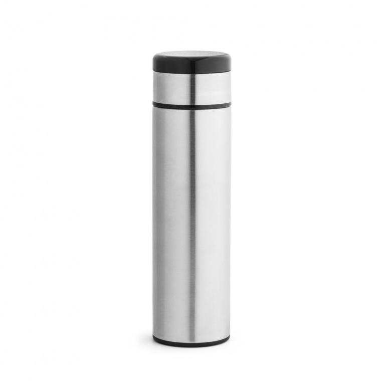 Brinde Garrafa Térmica em Aço Inox com Termômetro Digital 450 ml